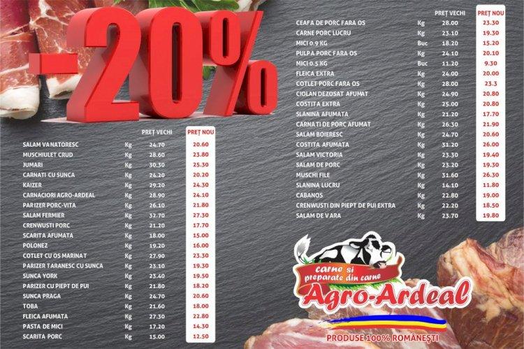 În timp ce alții scumpesc, Agro Ardeal ieftinește carnea și produsele din carne cu 20%